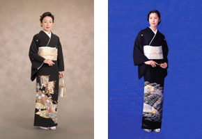 黒留袖 7,000円(税別)~/色留袖 20,000(税別)~